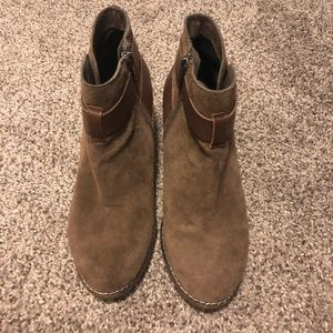 Dolce Vita Brown Suede Booties, Size 6.5